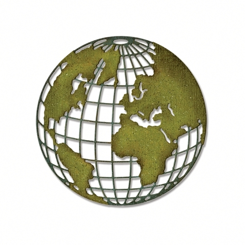 Tim Holtz Sizzix GLOBE Thinlits Die 660214 Preview Image