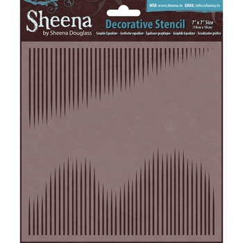 Crafter's Companion 7 x 7 Stencil GRAPHIC EQUALIZER Sheena Douglass SD-STEN-GRAPH