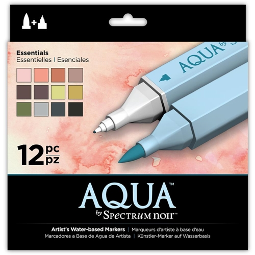 Crafter's Companion ESSENTIALS Spectrum Aqua Markers SPECNAQ12ESS Preview Image