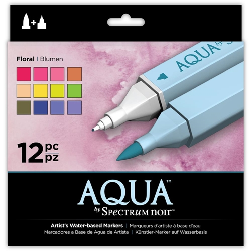 Crafter's Companion FLORAL Spectrum Aqua Markers SPECN-AQ12-FLO Preview Image
