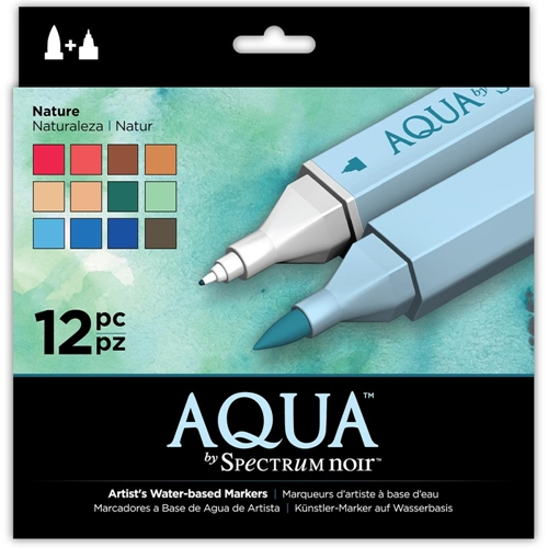 Crafter's Companion NATURE Spectrum Aqua Markers SPECNAQ12NAT Preview Image