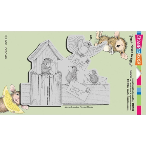 Stampendous, House Mouse Air Mail Cling Stamp