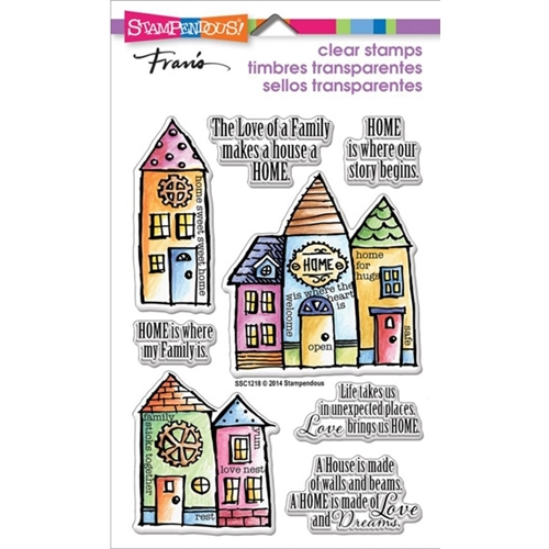 Stampendous Clear Stamps FAMILY HOME SSC1218 Preview Image