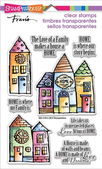 Stampendous Clear Stamps FAMILY HOME SSC1218 zoom image