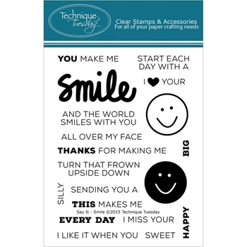 Technique Tuesday SAY IT SMILE Clear Stamps 02187