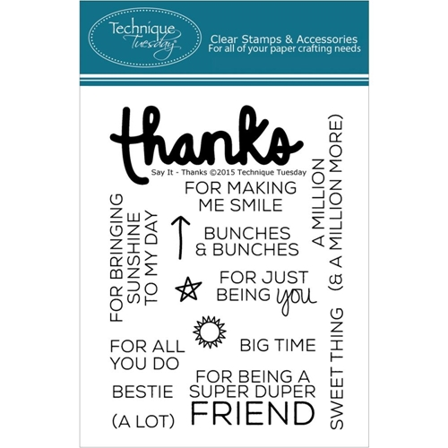 Technique Tuesday SAY IT THANKS Clear Stamps 02182 Preview Image
