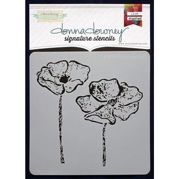Donna Downey ANEMONE DUO Signature Stencil DD048