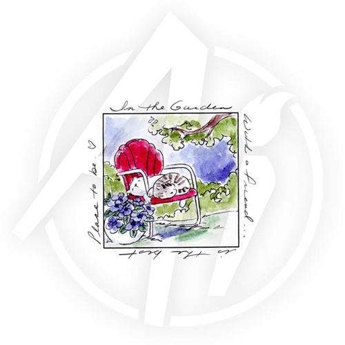 Art Impressions WITH A FRIEND WINDOW To the World Cling Rubber Stamp 4583 Preview Image