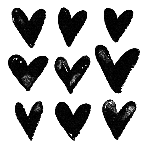 Tim Holtz Rubber Stamp WATERCOLOR HEARTS Stampers Anonymous M2-2572 Preview Image
