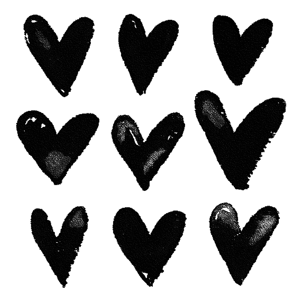 Tim Holtz Rubber Stamp WATERCOLOR HEARTS Stampers Anonymous M2-2572 zoom image