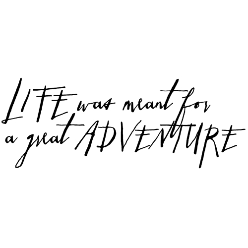 Tim Holtz Rubber Stamp WRITTEN LIFE ADVENTURE Stampers Anonymous P6-2579 Preview Image