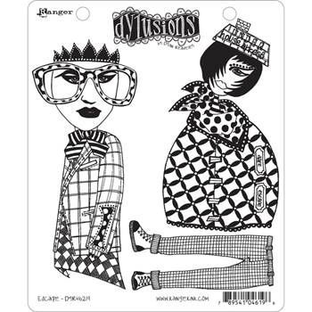 Dyan Reaveley ESCAPE Dylusions Cling Stamp Set DYR46219