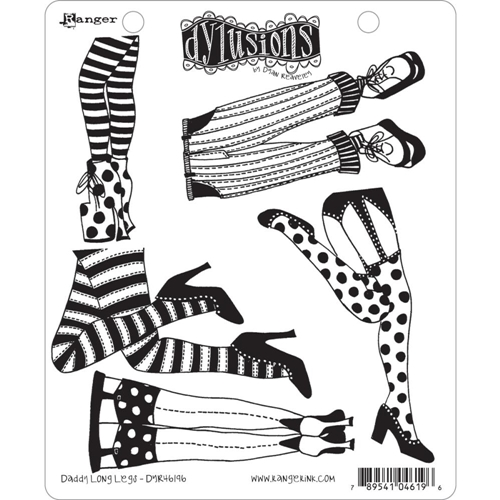 Dyan Reaveley DADDY LONG LEGS Dylusions Cling Stamp Set DYR46196 Preview Image