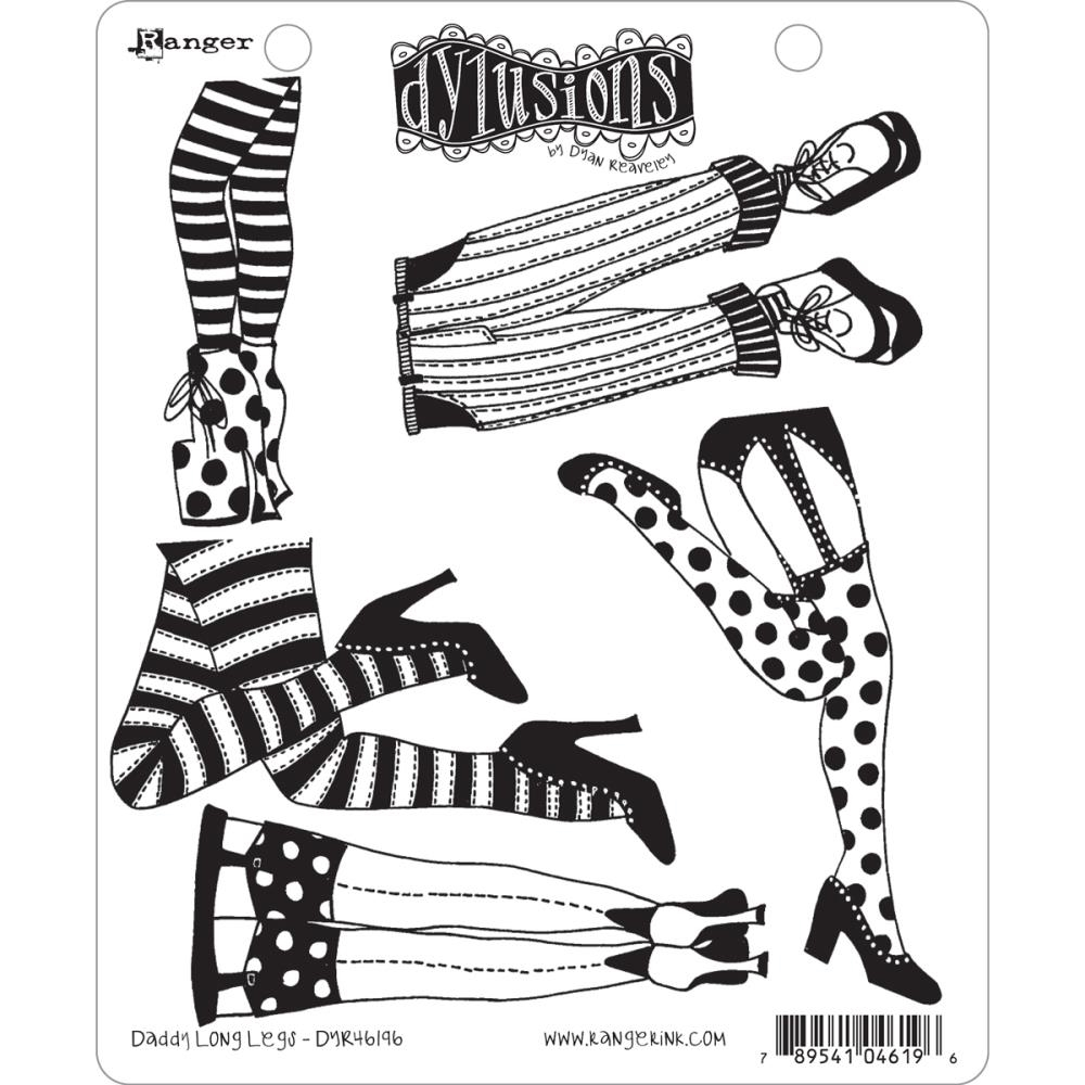Dyan Reaveley DADDY LONG LEGS Dylusions Cling Stamp Set DYR46196 zoom image