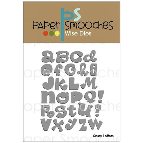 Paper Smooches SASSY LETTERS Wise Dies FBD199 Preview Image