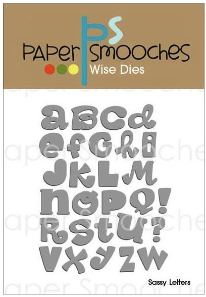 Paper Smooches SASSY LETTERS Wise Dies FBD199 zoom image