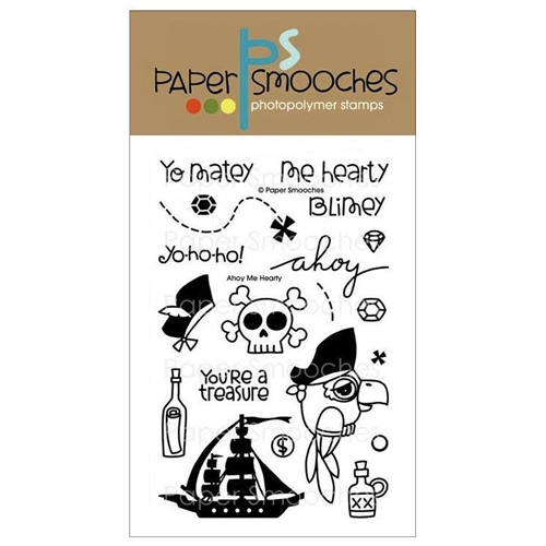 Paper Smooches AHOY ME HEARTY Clear Stamps FBS236