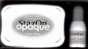 Tsukineko Stazon COTTON WHITE Ink Pad and REFILL SZ-000-110