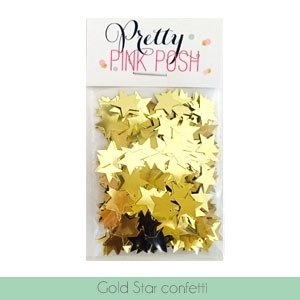 Pretty Pink Posh GOLD STAR CONFETTI Embellishments zoom image