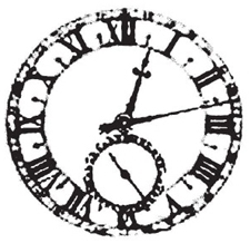 Tim Holtz Rubber Stamp WEATHERED CLOCK M2-1255 Stampers Anonymous Preview Image