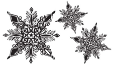 Tim Holtz Rubber Stamp SNOWFLAKES Stampers Anonymous P5-1260 Preview Image