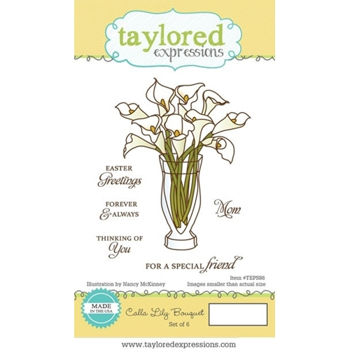 Taylored Expressions CALLA LILY BOUQUET Cling Stamp Set TEPS86 Preview Image