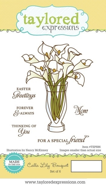 Taylored Expressions CALLA LILY BOUQUET Cling Stamp Set TEPS86 zoom image