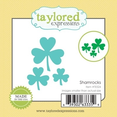 Taylored Expressions Little Bits SHAMROCKS Die Set TE524 Preview Image