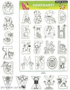 Penny Black Clear Stamps ZOOPHABET Alphabet Set 30-015