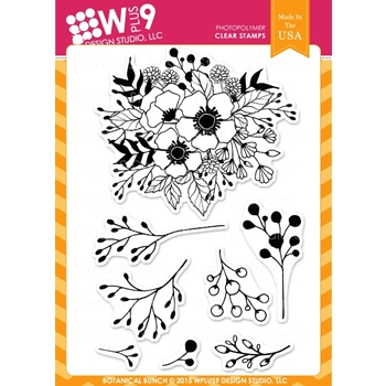Wplus9 BOTANICAL BUNCH Clear Stamps CL-WP9BBU