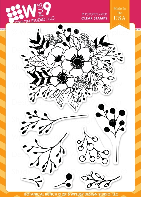 Wplus9 BOTANICAL BUNCH Clear Stamps CL-WP9BBU zoom image