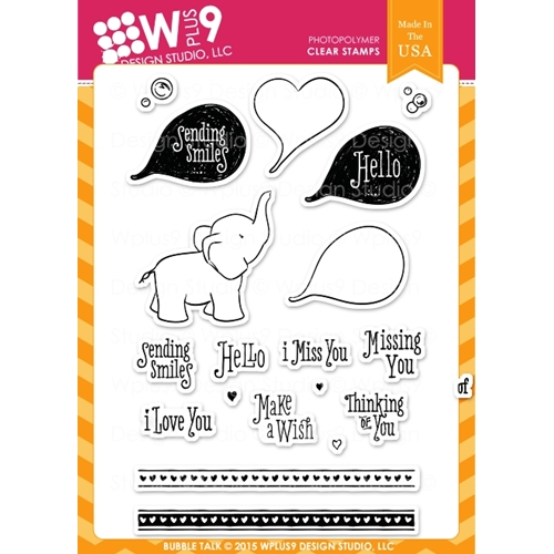 Wplus9 BUBBLE TALK Clear Stamps CL-WP9BT Preview Image