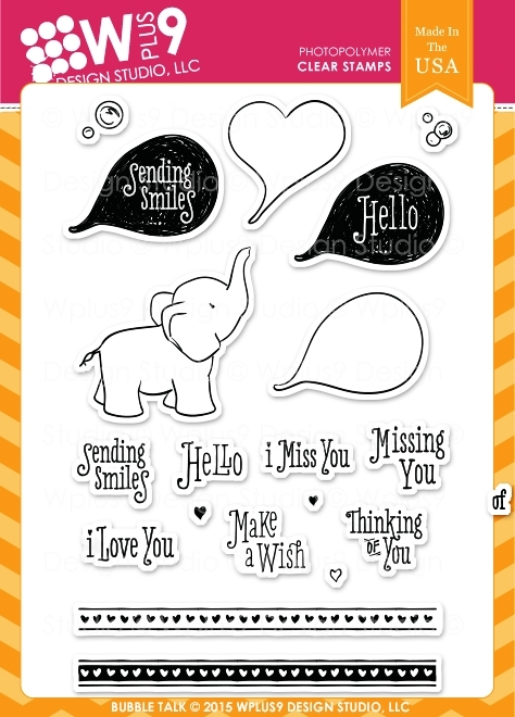 Wplus9 BUBBLE TALK Clear Stamps CL-WP9BT zoom image