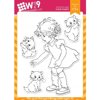 Wplus9 PICK OF THE LITTER Clear Stamps CL-WP9POTL