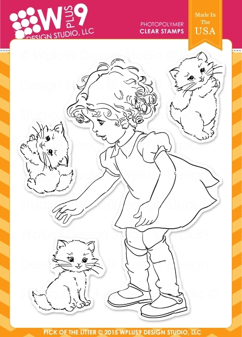 Wplus9 PICK OF THE LITTER Clear Stamps CL-WP9POTL zoom image