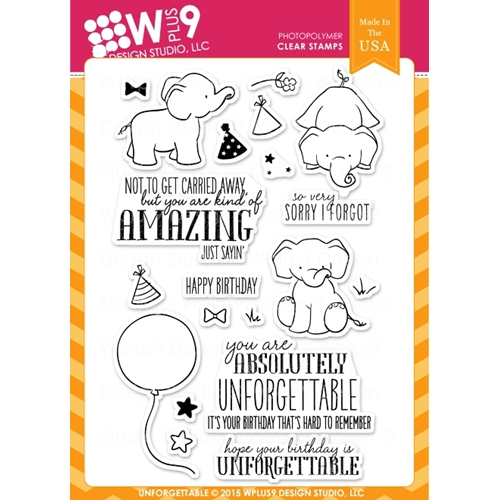 Wplus9 UNFORGETTABLE Clear Stamps CL-WP9UN Preview Image