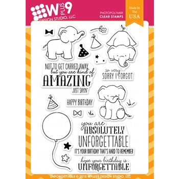 Wplus9 UNFORGETTABLE Clear Stamps CL-WP9UN