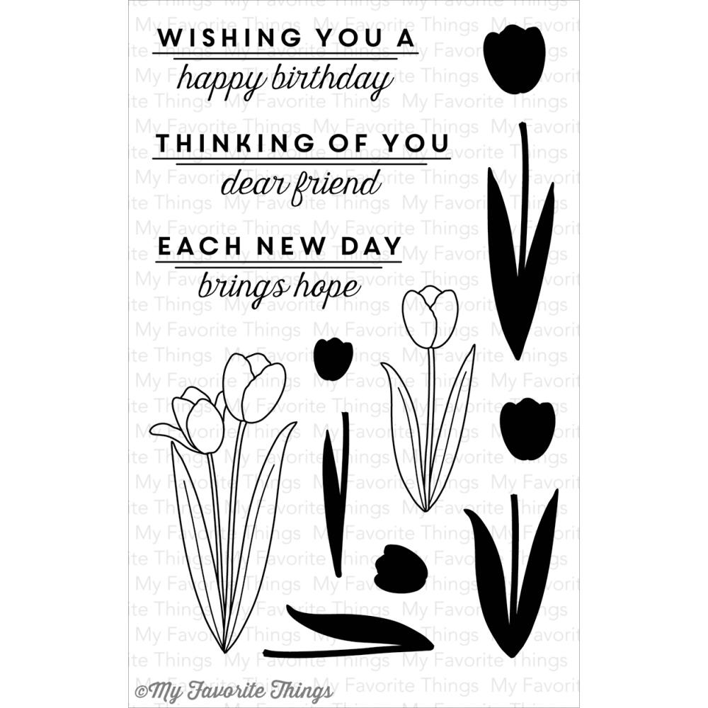 My Favorite Things SPRING TULIPS Clear Stamps MFT LJD47* zoom image