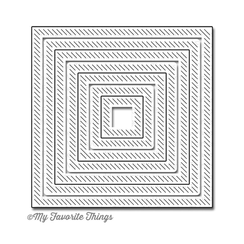 My Favorite Things INSIDE AND OUT DIAGONAL STITCHED SQUARE STAX Die-Namics MFT607
