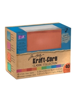 Tim Holtz Core'dinations KRAFT CORE CLASSIC A2 Cards And Envelopes GX195003 *