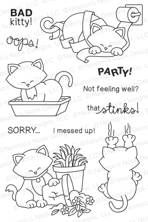 Newton's Nook Designs NAUGHTY NEWTON Clear Stamp Set 20150201 Preview Image