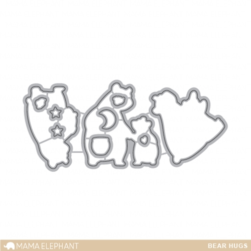Mama Elephant BEAR HUGS DIE Creative Cuts Steel Die Set
