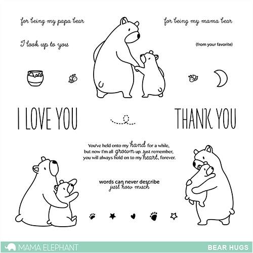 Mama Elephant Clear Stamp BEAR HUGS Set