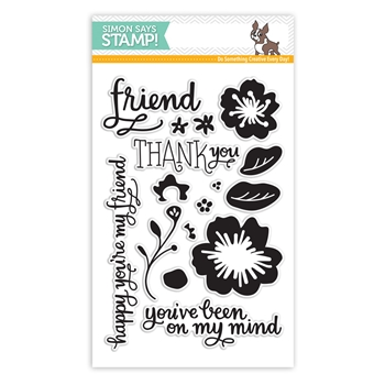 SImon Says Clear Stamps FLOWERS ON MY MIND sss101501 *