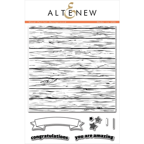 Altenew WOOD PALLET BACKGROUND Clear Stamp Set  Preview Image