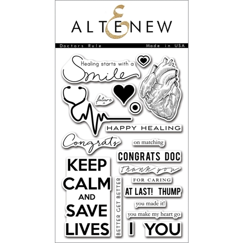 Altenew DOCTORS RULE Clear Stamp Set ALT1081 Preview Image