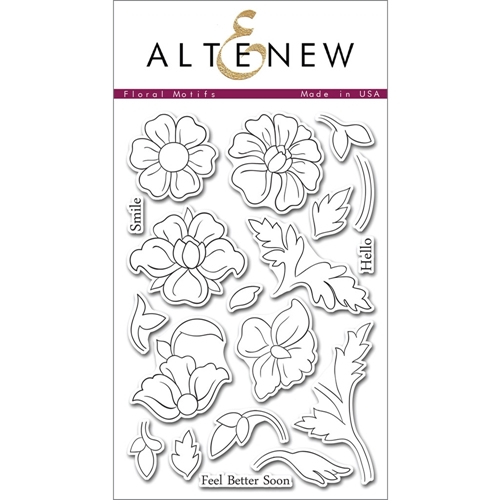 Altenew FLORAL MOTIFS Clear Stamp Set ALT1015 Preview Image