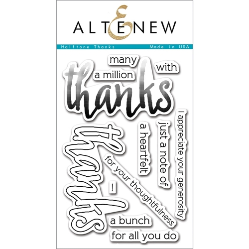Altenew HALFTONE THANKS Clear Stamp Set ALT1092* Preview Image