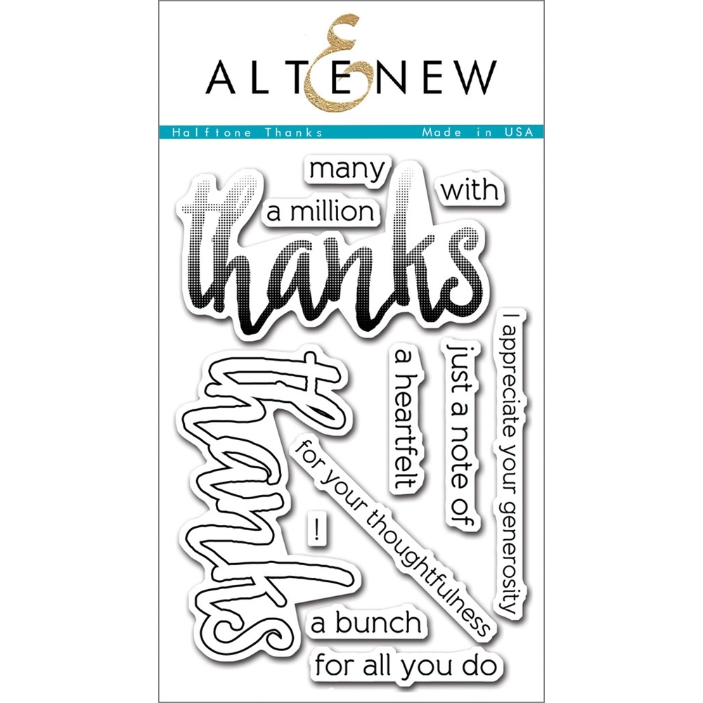 Altenew HALFTONE THANKS Clear Stamp Set ALT1092* zoom image