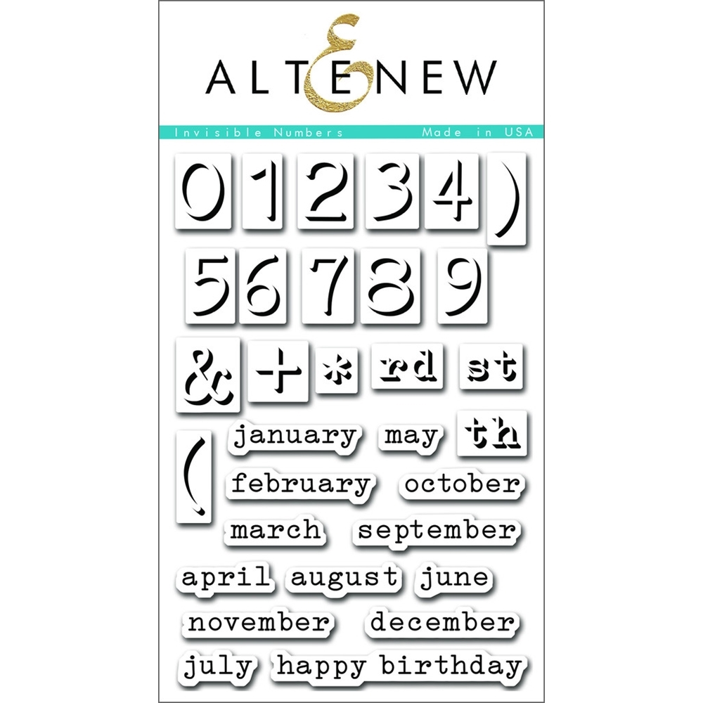 Altenew INVISIBLE NUMBERS Clear Stamp Set ALT1093* zoom image